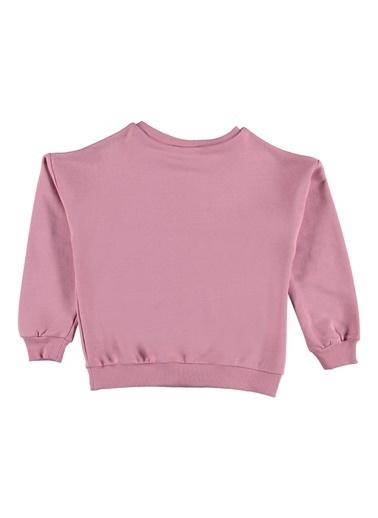 Morhipo Kids O Yaka Baskılı Sweatshirt Pembe